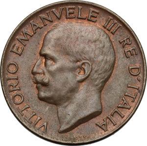 obverse: Vittorio Emanuele III (1900-1943). 5 centesimi 1933