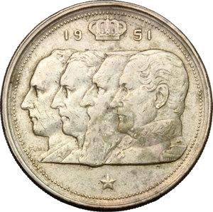 obverse: Belgium. 100 franchi 1951