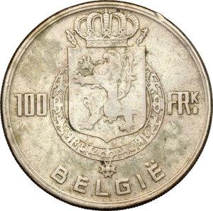 reverse: Belgium. 100 franchi 1951