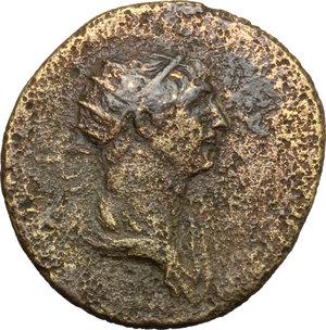obverse: Traiano (98-117). Dupondio