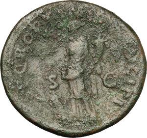 reverse: Traiano (98-117). Asse