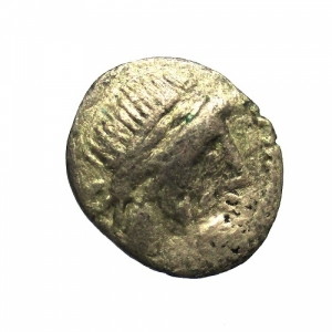 obverse: Repubblica Romana. Gens Cornelia. Cnaeus Lentulus Clodianus. 88 a.C. Quinario. Ag. : D/ Testa di Giove verso destra. R/ CN.LENT. (Cnaeus Lentulus), la Vittoria incorona un trofeo. Cr.345/2. Peso 1,6 gr. Diametro 16 mm. qBB.