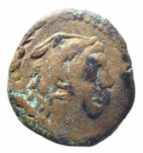 obverse: Repubblica Romana. Gens Fabrinia. M. Fabrinius. ca 132 a.C. Quadrante. AE. D/ Testa di Ercole a destra con pelle di leone, dietro tre globetti. R/ Prua a destra; sopra M.FABRI/NI, davanti tre globetti. Sotto ROMA. B. Fabrinia 3. Syd 453b. Cr. 251/3. Peso 4,50 gr. Diametro 18,50 mm. MB+\BB.