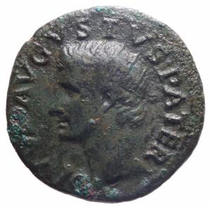 obverse: Impero Romano. Augusto 27 a.C. - 14 d.C. Asse. D/ Testa di Augusto verso sinistra DIVVS AVGVSTVS PATER. R/ PROVIDENT Altare tra SC. Peso 10,59 gr. Diametro 27,70 mm. RIC.81 ( Tiberio).BB+.>>