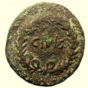 obverse: Impero Romano. Augusto. 27 a.C-14 d.C. Dupondio. Ae. : D\ OB CIVIS SERVATOS. R\ P LICINIVS STOLO IIIVIR AAAFF S C. Peso 14,4 gr. Diametro 32,6 mm. MB+. R.