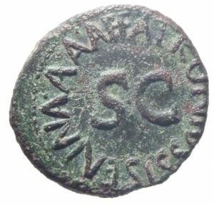 reverse: Impero Romano. Augusto. 27 a.C-14 d.C. Quadrante, ca. 5 a.C. AE. Apronius, Galus, Messalla e Sisenna come Tresviri. D/ GALVS SISENNA IIIVIR. Altare. R/ MESSALLA APRONIVS A A A F F. Al centro, SC. RIC 452. C. 373. Peso gr. 3,05. Diametro mm. 16.00.SPL.Ex Tintinna 80 lotto 213 aggiudicato ma non pagato