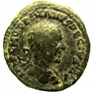 obverse: Provincia Romana Moesia Superiore. Viminacium. Traiano Decio. 249-251 d.C. : D/ Busto laureato a destra. R/ Moesia al centro tra un leone stante verso sinistra ed un toro verso destra, in esergo AN XII. Peso 11,9 gr. Diametro 27 mm. MB+