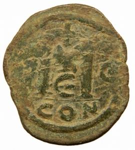 reverse: Bizantini. Anastasio I (491-518). Follis, Costantinopoli. D/ Busto a destra. R/ Grande M tra due stelle. Sopra, croce. Sotto, Δ. D.O. 23. gr. 18,00. Diametro 36,00 mm.AE. BB.=