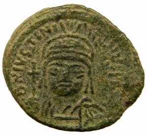obverse: Bizantini. Giustiniano I. 527-564 d.C. Decanummo. Ae. Zecca Incerta. Ravenna?. DOC 368; Sear 336. Peso gr. 3,70. Diametro mm. 14,50. BB+. Patina verde. R.=