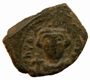 obverse: Bizantini. Costante II. 641-648 d.C. Follis AE. D/ Costante II frontale. R\ SCL. Siracusa. nSB 1103. Peso 4,30 gr. Diametro 24,36 mm. BB. per la tipologia. R.=