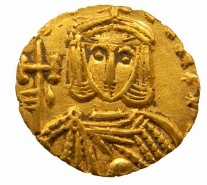 obverse: Impero Bizantino. Leone III (717-741). Tremisse, Siracusa. D/ dN[ ]. Busto di fronte di Leone III che indossa clamide e tiene globo crucigero. R/ Busto di fronte di Costantino V che indossa clamide e tiene croce potenziata. Cfr. D.O. 48. Cfr. Sear 1540 C (zecca italiana incerta). AU. g. 1.21 mm. 12.00 R. qSPL.=