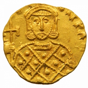 obverse: Bizantini. Costantino V. 741-775 d.C. Solido. AU. Siracusa. D/ [CON]TAN LE[ON]. I busti di fronte di Costantino V e Leone IV, che indossano corona e clamide. Sopra croce. R/ [GNO LEO] N PAM. Il busto di fronte di Leone III che indossa corona e loros e tiene croce potenziata. D.O. 15. Sear 1565. Peso 3,75 gr. Diametro 22,00 mm. SPL+.Fondi a specchio=