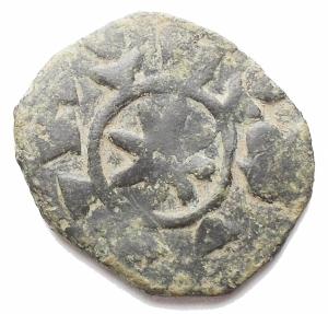 reverse: Bizantini -Nicephorus III Botaniates. 1078-1081. AE. 2,68 g. d/ Cristo stante r / Astro. MB-qBB. Patina verde