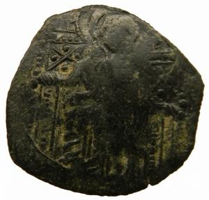 reverse: Bizantini. Impero di Nicea.Michele VIII.Trachy billon.D\ tre figure stanti.Peso 2,05 gr.Diametro 25,00 mm.BB.=