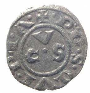 obverse: Zecche Italiane. Ancona. Repubblica monetazione autonoma. Denaro XII e XIII secolo.Peso 0,60 gr. BB+.