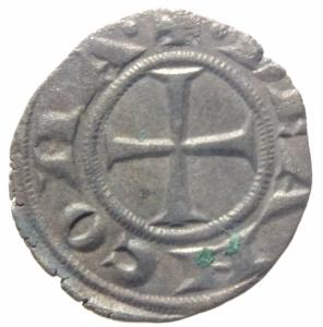 reverse: Zecche Italiane. Ancona. Repubblica monetazione autonoma. Denaro XII e XIII secolo.Peso 0,60 gr. BB+.
