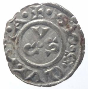 reverse: Zecche Italiane. Ancona. Repubblica monetazione autonoma. Denaro XII e XIII secolo.Peso 0,60 gr. BB+.^^^
