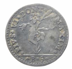 reverse: Zecche Italiane. Bologna. Pio VI (1775 -1796). 5 bolognini 1778. M. 230. R. AG. Colpetti. BB.^^^