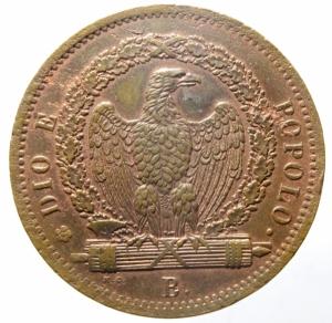 reverse: Zecche Italiane. Bologna. Repubblica Romana. 1849. 3 baiocchi 1849. CU. Pag. 260. Mont. 71. Peso gr. 24.65. BB+/SPL. ex Artemide Aste 6e, Lotto 6338. R.