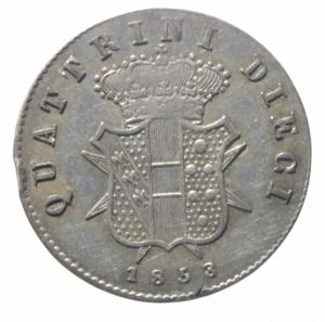 reverse: Zecche Italiane. Firenze. Leopoldo II (1824-1859). 10 quattrini 1858. Gig.67. AG.SPL+.^^^