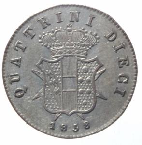 reverse: Zecche Italiane. Firenze. Leopoldo II (1824-1859). 10 quattrini 1858. Gig.67. AG.qSPL.^^^