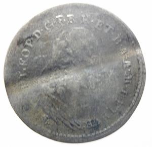 obverse: Zecche Italiane. Firenze. Pietro Leopoldo di Lorena. 1765-1790. Paolo 1783, I serie. AG. MIR 389. qBB. Ondulazione del tondello. R.