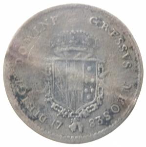 reverse: Zecche Italiane. Firenze. Pietro Leopoldo di Lorena. 1765-1790. Paolo 1783, I serie. AG. MIR 389. qBB. Ondulazione del tondello. R.