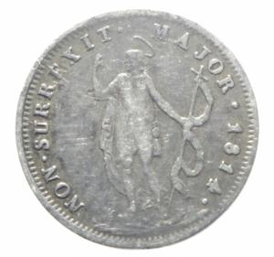 reverse: Zecche Italiane.Genova. Repubblica Genovese (1814). 10 soldi 1814. AG.BB.>>>