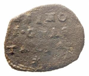 obverse: Zecche Italiane. Guastalla. Ferrante III Gonzaga. 1632-1678. Sesino. AE. Santa Caterina. MIR 424. Peso gr. 0.80. MB+.