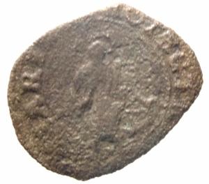 reverse: Zecche Italiane. Guastalla. Ferrante III Gonzaga. 1632-1678. Sesino. AE. Santa Caterina. MIR 424. Peso gr. 0.80. MB+.