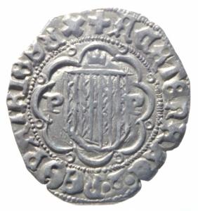 obverse: Zecche Italiane.Messina. Giovanni (1458-1479) Pierreale. D/ Stemma. R/ Aquila. AG. Sp.28 var. qSPL.^^^