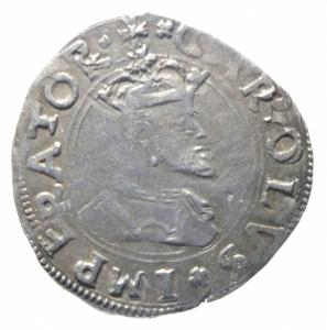 obverse: Zecche Italiane. Messina. Carlo V (1516-1556). Tarì 1554. R. AG. BB+.^^^