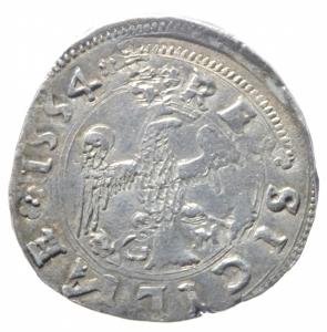 reverse: Zecche Italiane. Messina. Carlo V (1516-1556). Tarì 1554. R. AG. BB+.^^^