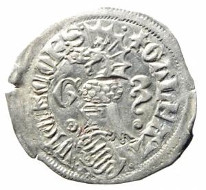 obverse: Zecche Italiane. Milano. Galeazzo Visconti. 1355-78. Sesino. Ag. D/ Cimiero R/Tizzone con 3 secchie .CNI 13\19. Peso gr. 1,06 Diametro mm. 21,00. SPL.