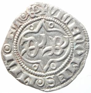 obverse: Zecche Italiane.Milano. Bernabò Visconti (1378-1385). Sesino. CNI 27/35. Cr. 5/B. MIR 114/2. AG. g. 1.03 mm. 19.50 Bel SPL.