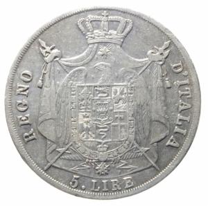 reverse: Zecche Italiane.Regno d  Italia. Napoleone Imperatore e Re. 5 Lire Milano 1812. peso 24,50 g. Diametro 37/38 mm. qBB\BB+.^^^.