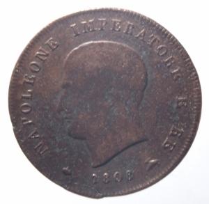 obverse: Zecche Italiane. Milano. Napoleone I. 3 centesimi 1808.Peso 6,35 gr. BB.^^^
