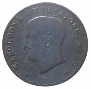 obverse: Zecche Italiane. Milano. Napoleone I (1805-1814). 3 centesimi 1810 . Pag. 82a. AE. MB.^^^