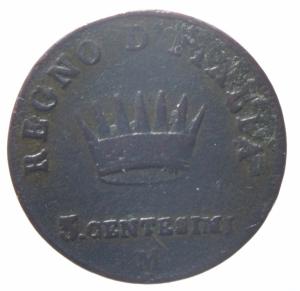 reverse: Zecche Italiane. Milano. Napoleone I (1805-1814). 3 centesimi 1810 . Pag. 82a. AE. MB.^^^