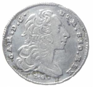 obverse: Zecche Italiane. Napoli. Carlo di Borbone. 1734-1759. Carlino 1755. P.R. 44. Peso 2,00 gr. Diametro 20 mm. qBB. R.^^^