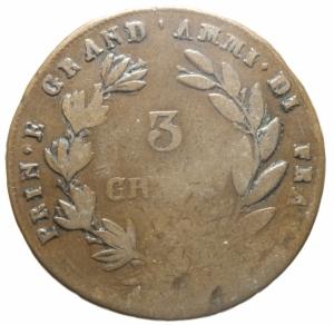 reverse: Zecche Italiane. Napoli. Gioacchino Murat. 3 Grana 1810. Mont.429.Peso 16,00 gr. qBB.>>>