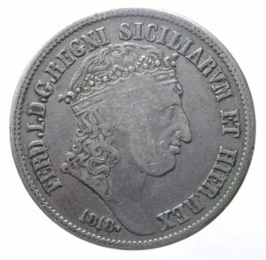 obverse: Zecche Italiane. Napoli. Ferdinando I. 1816-1825. 120 grana 1818. Ag.Peso 27,30 gr.Ag. BB.^^^.