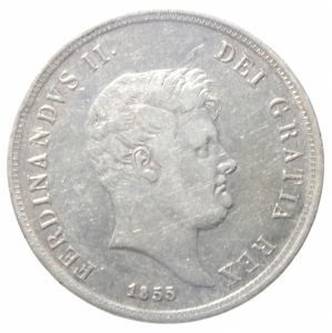 obverse: Zecche Italiane. Napoli. Ferdinando II (1830-1859). 60 grana 1855. Pag.247. AG. qBB\BB+.^^^
