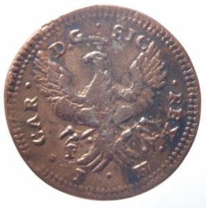reverse: Zecche Italiane.Palermo. Carlo di Borbone (1735-1759). Grano 1737. AE.Peso 2,95 gr. Gig.83. Bel BB.^^^