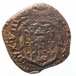 reverse: Zecche Italiane. Parma. Antonio Farnese. 1727-1731. Sesino. AE. MIR 1054. Peso gr. 1.02.qBB. RR.