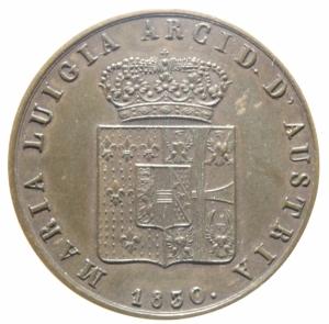reverse: Zecche Italiane.Parma. Maria Luigia d Austria (1815-1847). 5 centesimi 1830.Peso 10,00 gr.Diametro 30,00 mm. CU.SPL.>>>