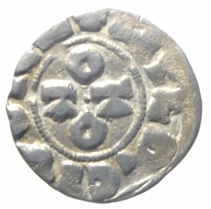 reverse: Zecche Italiane. Pavia. Ottone III di Sassonia. 983-1002. Denaro. MIR 831. Peso 1,05 gr. BB+.