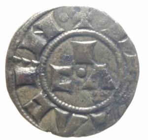obverse: Zecche Italiane .Piacenza. Comune Corrado II. 1140-1313. Mezzano. Peso 0,65 gr. MIR 1108. BB.>>>