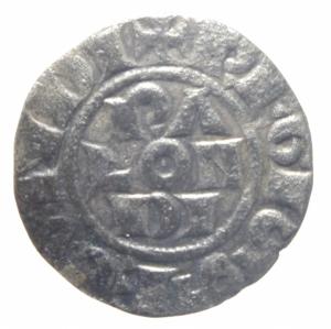 reverse: Zecche Italiane .Piacenza. Comune Corrado II. 1140-1313. Mezzano. Peso 0,65 gr. MIR 1108. BB.>>>