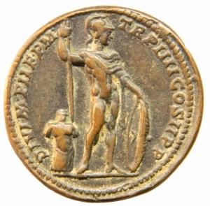 reverse: Medaglie.Settimio Severo 193-211 .Padovanino .Giovanni dal Cavino 1500-1570 Imitazione di medaglione romano.Peso 26,90 gr.Diametro 35,00 mm.BB+.=